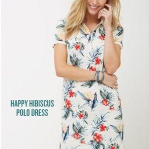 Tommy Bahama Happy Hibiscus Polo Dress